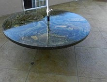 Cement Patio Tables Gallery Table Decoration Ideas Images