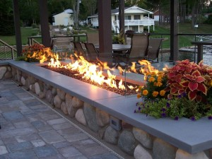 concrete for outdoor living areas.