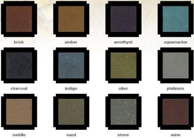 Basic concrete colors that are cusomt bleneded to make your special concrete product