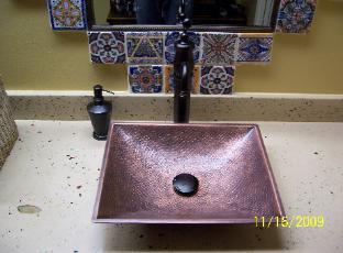 custom designer concrete counter tops with vessel sink