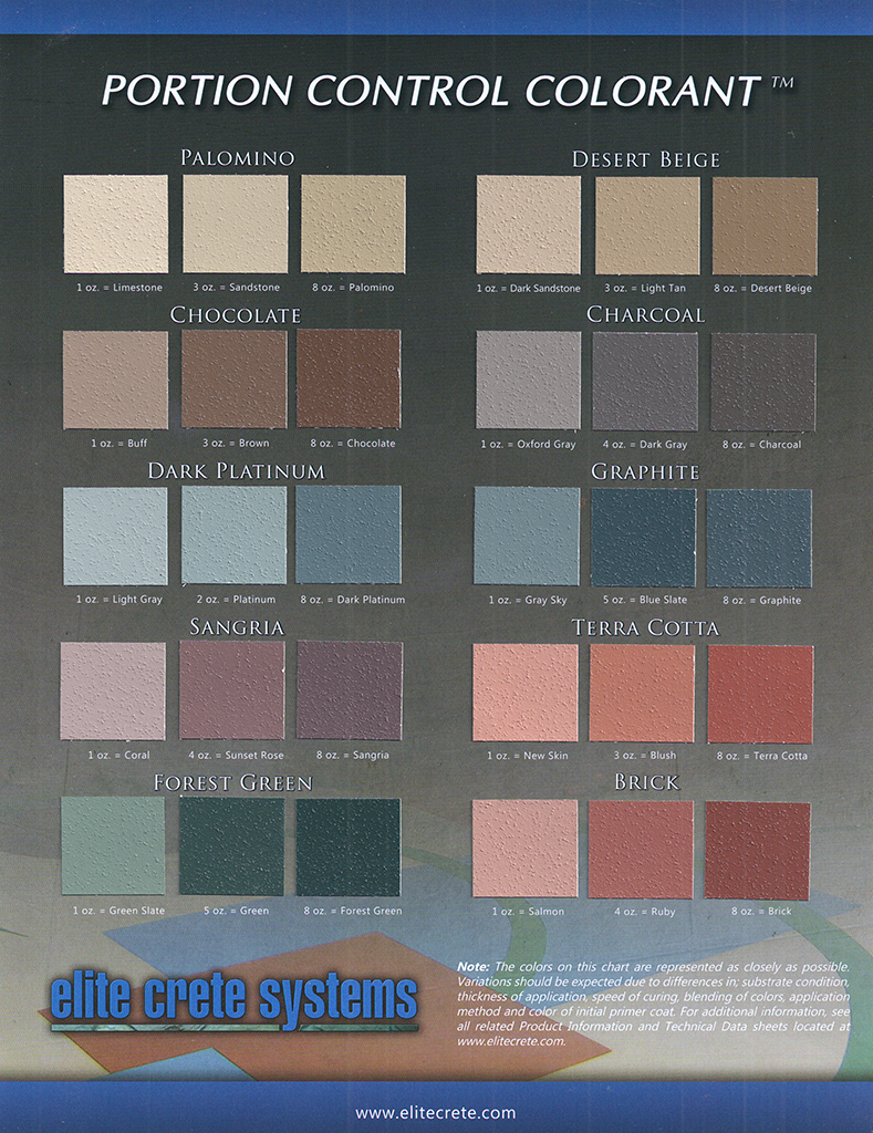 pcc epoxy floor color chart