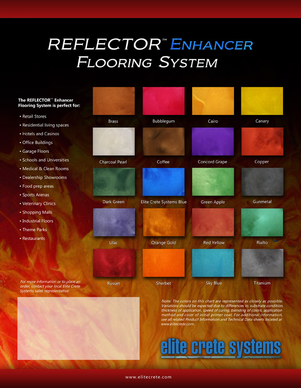 reflector red color chart