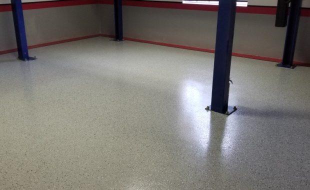 Epoxy Floors-Nascar racer ready Garage-Vero Beach